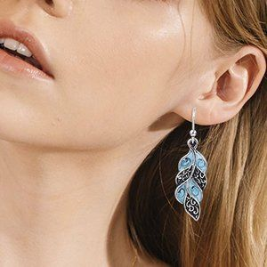 Cute Silver Boho Dangle Earrings
